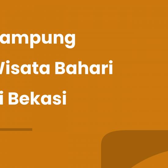 Kampung Wisata Bahari di Bekasi
